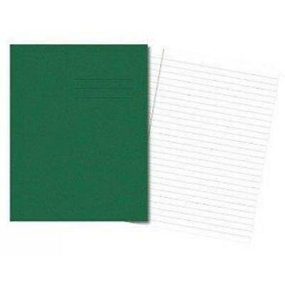 100 x Cambridge Exercise Book Ruled 8mm & Margin 48 Pages Dark Green 100101386
