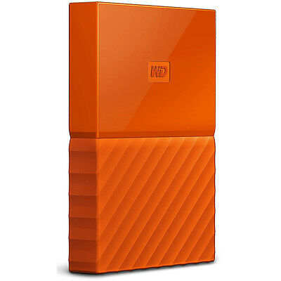 Western Digital WD 1TB My Passport Portable Hard Drive - Orange