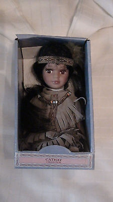 Cathay Collection Native American Porcelain Doll 6 Inch - #224 -  New