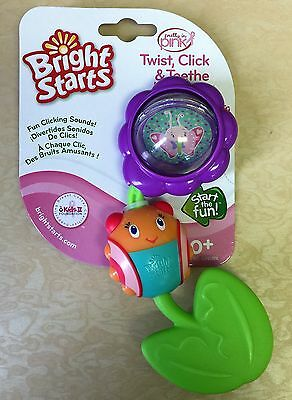 NEW, Bright Starts Twist Click And Teethe, Pretty In Pink BPA Free 0+