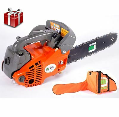"MJ TOOLS 26cc Top Handle Petrol Chainsaw - 12"" Bar, Carry Case - Oregon Chain"