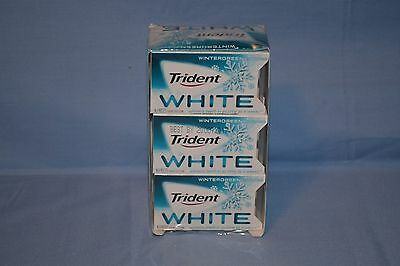 Trident White Wintergreen Chewing Sugar Free Gum 9 Packs 144 Peices, Exp 10/17