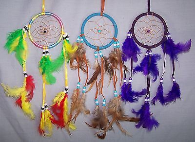 Handmade Dream Catchers Wall Hanging Decorations 6 Pc Lot  ( ENpDc204-6)