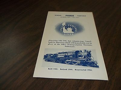 May 1954 Cnj Jersey Central Special Parade Public Timetable