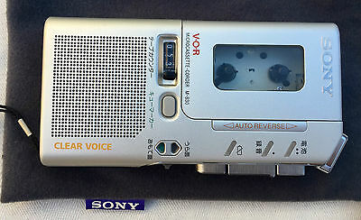 Sony Vor M 830 Microcassette Japenese Lettering Clear Coice