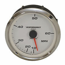 Faria SE9841A Speedometer Gauge Performance Series Silver / White 60 Mph