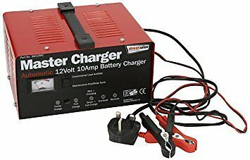 Streetwize Automatic Battery Charger 12v 10 Amp Car Motorcycle Bike Metal Cased