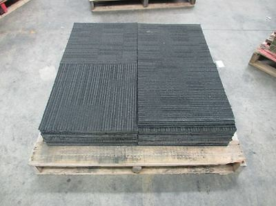 Dark Grey Stripped with Rubber Backing Carpet Tiles