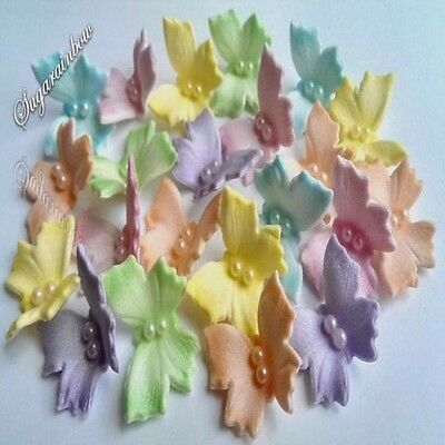 20 Edible sugar butterflies cake cupcake toppers decorations AIRBRUSHED