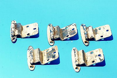 "Set of 5 Vintage Cabinet Hinges 2.75"" x 2"" Painted Architectural Design"