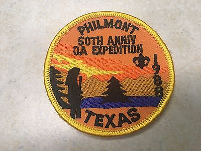 1988 Texas 50th Anniv Expedition Philmont Contingent Patch