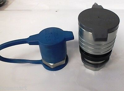 "TEMA INTERCHANGE Quick Connect Coupling 1"" Thread 4000PSI TRUCK WITH DUST CAPS"
