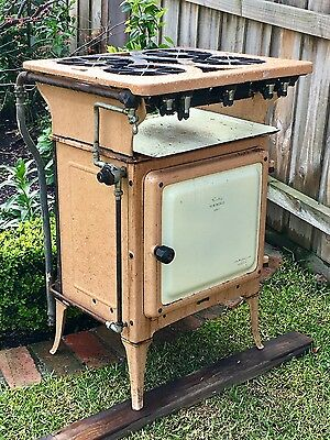 "Antique ""New World"" cast iron freestanding oven stove"