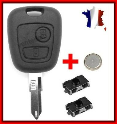 Shell Rks Key Remote Peugeot 106,107,206,207,306,307,406 +2 Switches +Battery
