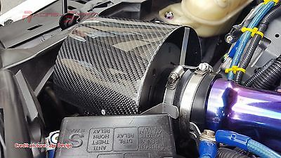 Universal Real Carbon Fiber Air Intake Manifold Filter Breather Cover Trd Nismo
