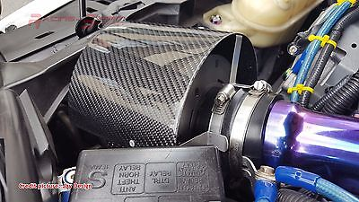 Universal Real Carbon Fiber Air Intake Manifold Filter Breather Cover Wrx Celica