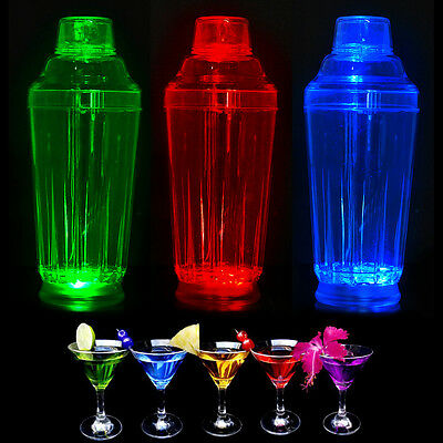 Cocktail shaker LED illumina quantità 500ml professionale per bar perfetto nuovo