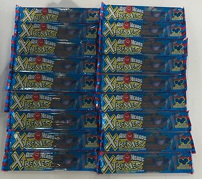 909578 18 x 57g PACKETS OF AIRHEADS XTREMES SOUR CANDY - BLUEST RASPBERRY