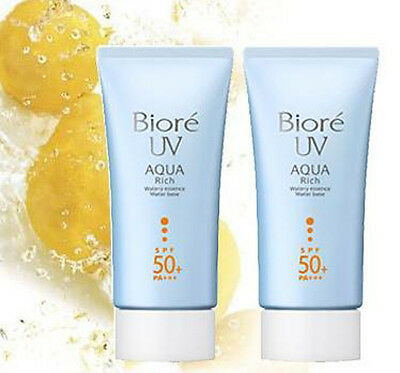 Biore Kao UV Aqua Rich Watery Essence Sunscreen Face Body SPF50 PA++ X 2