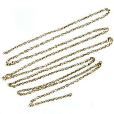 """Punk Oval Bronze Plated Brass 20"""" Twist Chain Link for DIY Jewelry Making Craft"""