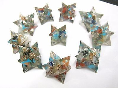 Lot of ten orgone merkaba stars crystal healing gift reiki feng shui energy