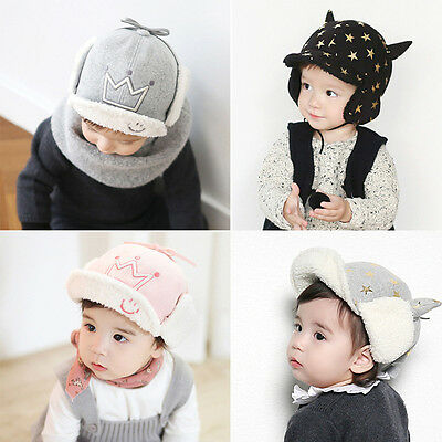 New Baby Toddler Winter Beanie Warm Hat Hooded Kids Boys Girls Knitted Furry Cap