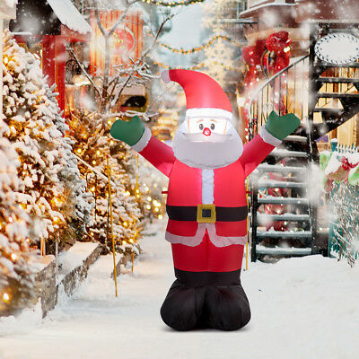 1.2m Inflatable Waving Santa Claus Christmas Decoration Garden Outdoor Lights