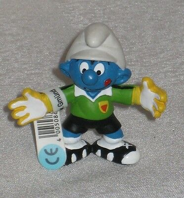 Smurf Figurine - soccer player -New with tag
