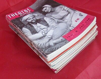 Large Collection Of 1940's/50's Theatre World Magazines 12 E20
