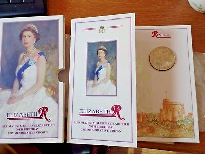 1996  Queen Elizabeth 70th Birthday £5 Crown Pack - Brilliant Uncirculated