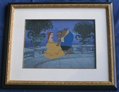 "RARE & HTF ""Publisher's Proof"" Disney Animation Cel of ""Beauty & the Beast"""