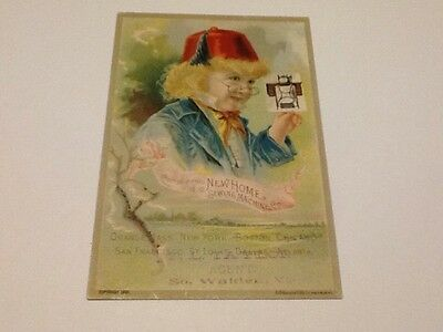Vintage Trade Card New Home Sewing Machine Co.