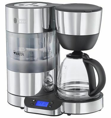 Russell Hobbs 20770 Purity Filter Coffee Machine with Timer Silver & Black