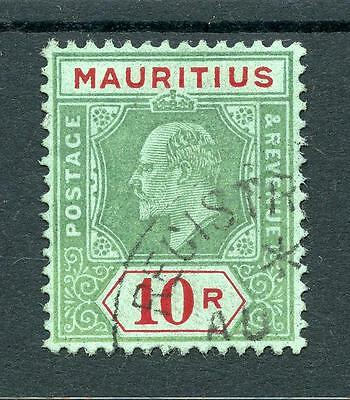 Mauritius 1910 10r green and red on green SG195 FU cat £300