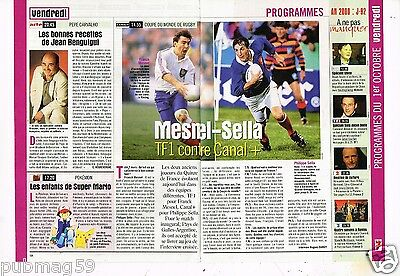 Coupure de Presse Clipping 1999 (2 pages) Rugby Franck Mesnel Philippe Sella