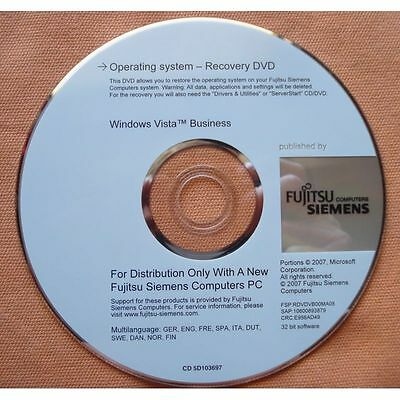 fujitsu siemens operating system-recovery dvd windows TM vista business