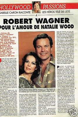Coupure de Presse Clipping 1992 (2 pages) Robert Wagner Natalie Wood