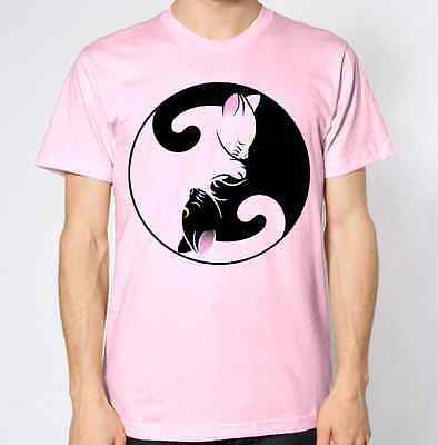YING YANG T Shirt Hipster Tumblr Hippie Hippy Retro Design Cats Kittens Kitty