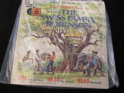 Disneyland Follow Along Record & Book    The Swiss Family Robinson