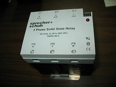 Sprecher + Schuh SAR6-30-3 Three Phase Solid State Relay 30 Amp