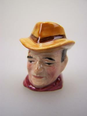 Thimble Artone England Silver Screen character head John Wayne hand painted