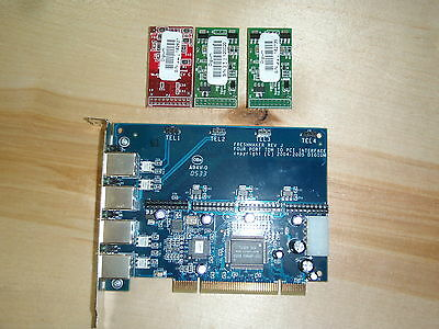 TDM400P card with modules. Genuine Digium, not a Chinese knockoff.