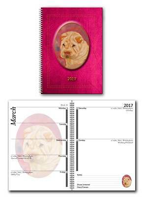 Shar Pei 2017 Large Dog Show Diary with Show Dates in a choice of 7 colours
