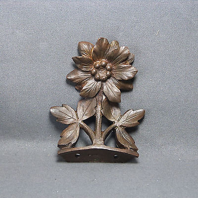 Antique French Bronze Furniture Decoration, Flowers - 19th century