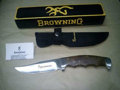 """Browning Fixed Blade Hunter Knife BR537 9 1/2"""" overall. 4 3/4"""" stainless blade."""