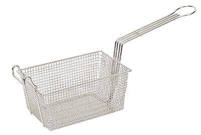 "Heavy Duty Commercial Fry Basket With Hook - 340 x 220 x 145mm.  13"" x 9"" x 6"""