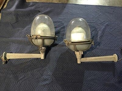 Pair Vintage Holophane Industrial lights