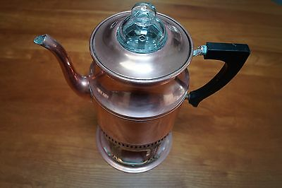 MUSEUM QUALITY 1907 patd. COPPER COFFEE PERCOLATOR  (LANDERS. FRARY and CLARK)