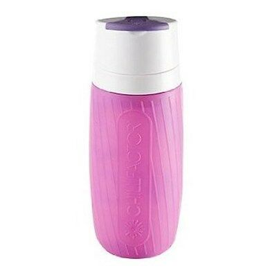 Chill Factor Instant Chill 600ml Drink Bottle Pink/Purple Brand New