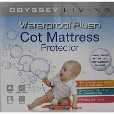 Odyssey Living Cotton Waterproof Mattress Baby Cot Protector Brand New